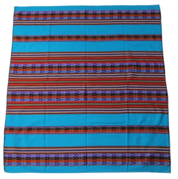 Peruaanse kleed turquose